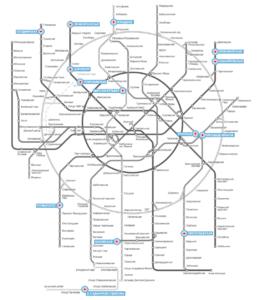 Карта сети клиник Дента-Эль