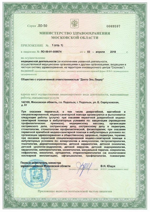 Денто Эль Лидер Подольск 3л