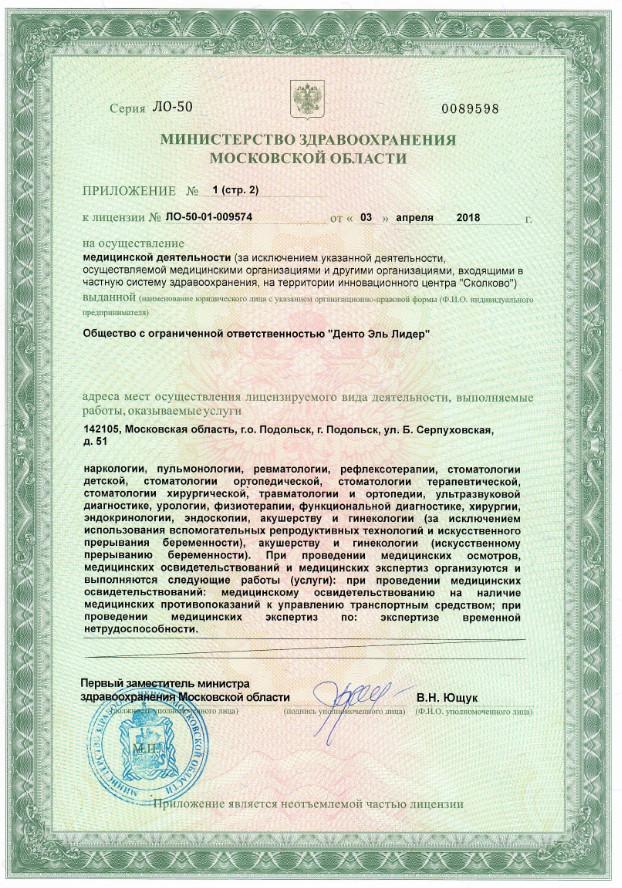 Денто Эль Лидер Подольск 4л