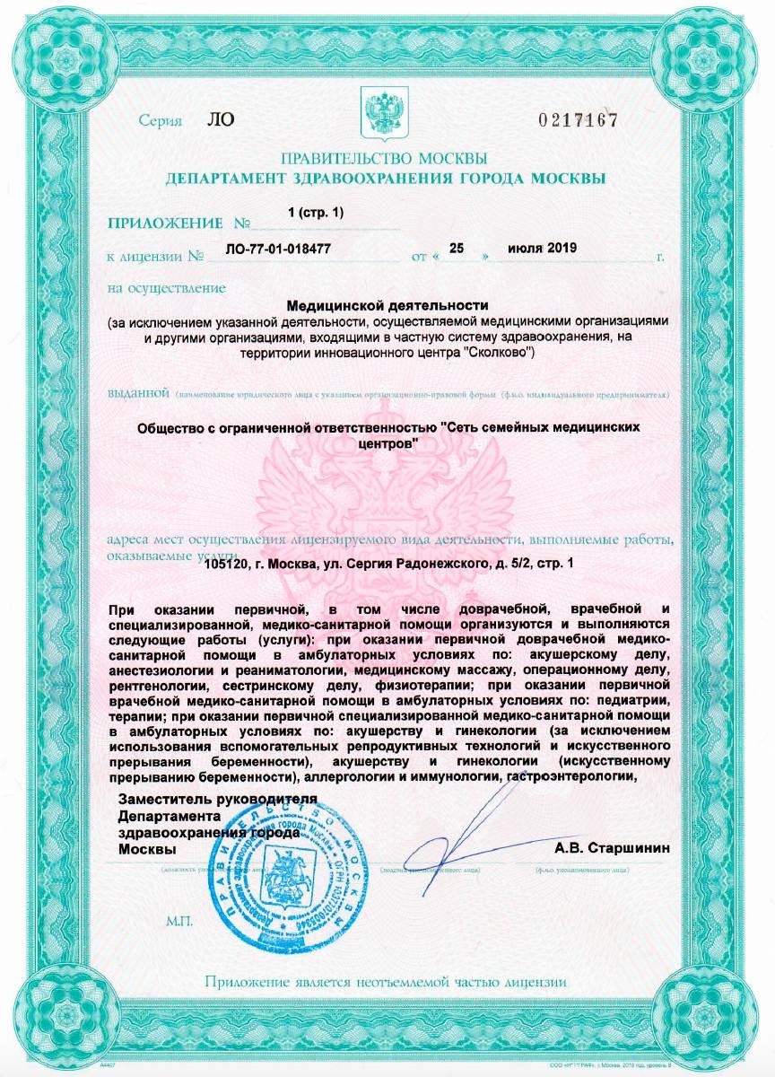 Лицензия №ЛО-77-01-018477 Римская 3 лист