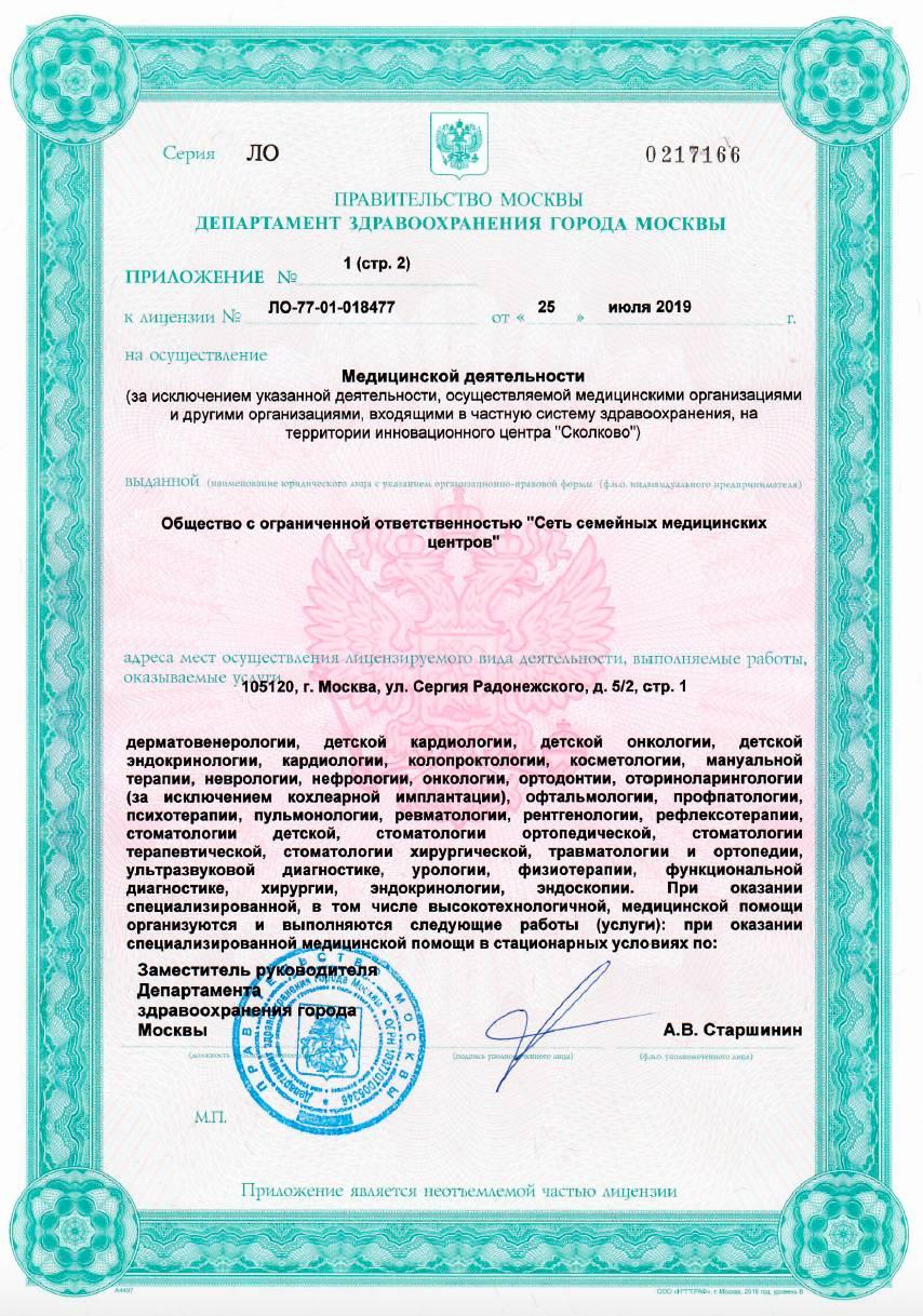 Лицензия №ЛО-77-01-018477 Римская 4 лист